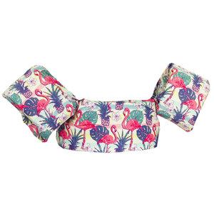 06 HappySwimmer - Zwembandjes voor peuters en kleuters met Flamingo print